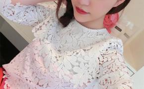 淘宝集运转运到韩国雪纺衫 蕾丝上衣 镂空 甜美 精致 定制 渐变 新款