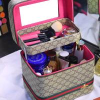 华人代购转运希腊化妆包 手提化妆箱 小号 便携 专业 大容量 多层 简约