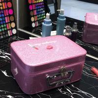 华人代购转运希腊化妆包 化妆箱 便携 大容量 手提 防水 可爱 卡通 黑色
