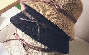 淘宝集运转运到日本帽子 防晒沙滩帽 圆顶 折叠 蝴蝶结 春夏 韩版