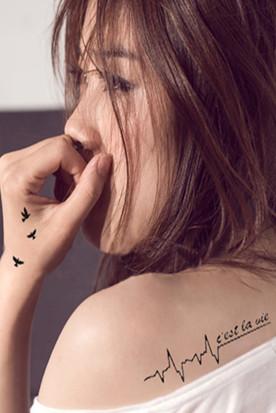 新加坡国内快递到性感纹身贴 花臂纹身 防水时效