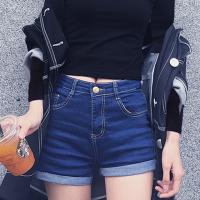 华人代购转运紧身上衣 露脐 领 短款 长袖 黑色 高腰 新款 韩版