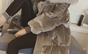 淘宝集运转运到美国大毛领棉服 加厚 正版 中长款 宽松显瘦 秋冬新款 韩版