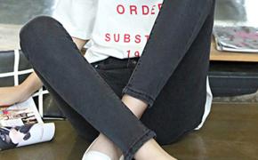淘宝集运转运到美国牛仔裤 显瘦小脚裤 弹力 修身 韩版