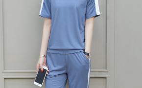 淘宝集运转运到法国佑布 时尚套装 七分裤 时尚 短袖 夏季 新款 韩版