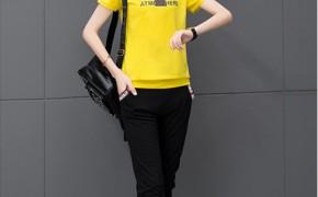 淘宝集运转运到法国时尚套装 七分裤 镶钻 新款 韩版