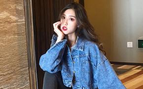 淘宝集运转运到澳大利亚牛仔外套 短款 宽松款 百搭 时尚 气质 新款 韩版