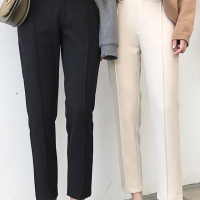 华人代购转运新西兰休闲裤 烟管裤 黑色 显瘦 秋冬季 新款