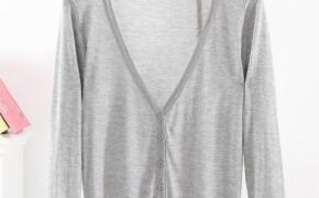 淘宝集运转运到韩国空调衫 短款 百搭 超薄款 夏季