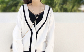 淘宝集运转运到韩国针织衫 短款 宽松显瘦 薄款 百搭 秋款 韩版