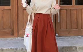 淘宝集运转运到法国春装新款韩版复古森女百搭高腰伞裙半身裙中长款显瘦a字裙仙女裙