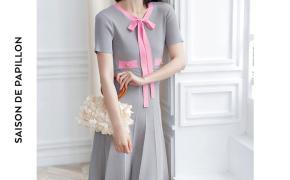 淘宝集运转运到日本2019夏装新款冰丝短袖针织连衣裙女欧美气质修身显瘦系带连衣裙子