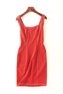 邮多多淘宝集运转运16624夏季新款韩版女装气质修身无袖连衣裙显瘦百搭背带裙5月14日