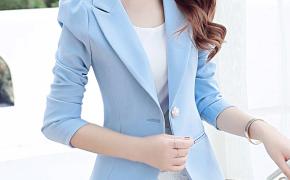 淘宝集运转运到意大利彩黛妃2019春夏新款韩版修身短款小西装女士外套百搭休闲西服