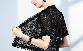 淘宝集运转运到日本蕾丝小披肩夏季短袖小外套薄款旗袍外搭配裙子吊带雷丝开衫女短款