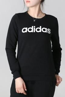 邮多多淘宝集运转运阿迪达斯女装2019夏季新款运动服休闲圆领套头衫长袖卫衣DM4129