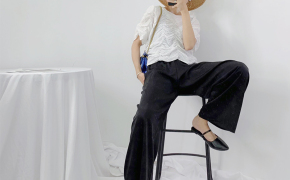 淘宝集运转运到日本垂感休闲裤女夏季高腰冰丝绸缎阔腿裤坠感直筒奶奶裤天丝缎面裤子