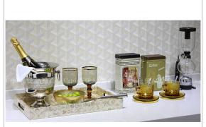 淘宝集运转运到韩国简约现代 样板房家居软装餐桌厨房咖啡用品进口托盘组合摆件ZH783