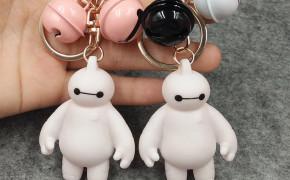 淘宝集运转运到日本韩国可爱礼品卡通暖男大白钥匙扣挂件手机链包包铃铛配饰儿童玩具