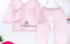 淘宝集运转运到英国初生婴儿0-3-6月夏季超薄空调服新生宝宝纯棉套装系带衣服两件套