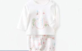 淘宝集运转运到英国honeysky 新生婴儿套装春秋薄款长袖上衣宝宝可开档大pp长裤2件套