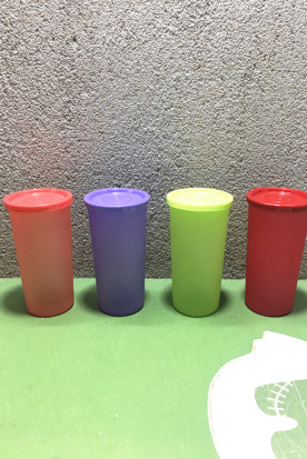 日本国内快递到特百惠正品彩运防漏水杯140ML/170ML小矮人杯迷你便携水杯儿童塑时效
