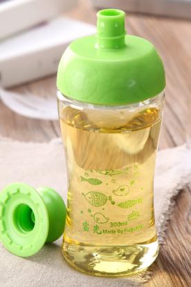 日本国内快递到富光太空杯 可爱萌动塑料水杯 情侣防漏儿童小口便携创意随手杯时效