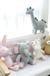 邮多多淘宝集运转运小清新毛线动物安抚娃娃毛绒玩具公仔儿童房装饰玩偶礼物拍照道具
