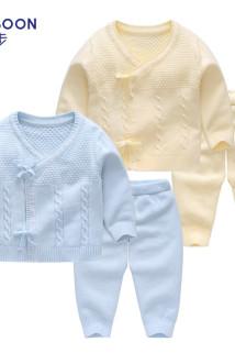 邮多多淘宝集运转运新生儿毛衣婴儿针织衫套装秋装手工编织婴幼儿初生宝宝秋冬衣服
