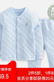 邮多多淘宝集运转运FGB好孩子秋冬装男女儿童婴儿宝宝睡衣长袖对襟套装衣服上衣+裤子