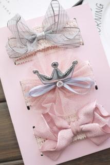 邮多多淘宝集运转运女宝宝发带韩国婴儿发饰0-6-12个月新生儿头饰儿童公主可爱套装