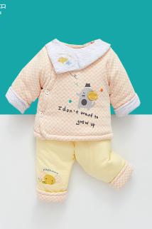 邮多多淘宝集运转运新生儿棉衣套装秋冬初生婴儿加厚棉服刚出生宝宝棉袄三件套外出服
