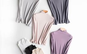 淘宝集运转运到澳大利亚莫代尔t恤女士长袖修身2019秋季新款上衣半高领体恤白色打底衫潮
