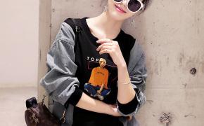 淘宝集运转运到新加坡卫衣女2020新款女春秋韩版宽松bf长袖ins短款薄款圆领女士外套潮