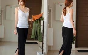 淘宝集运转运到法国夏季韩版新款女士莫代尔棉后开叉半身裙大码包臀一步裙半身长裙