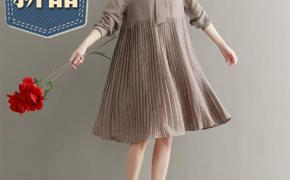 淘宝集运转运到荷兰2019韩系气质甜美p0lo领连衣裙宽松复古绑带领中长裙女士夏季新款