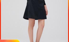 淘宝集运转运到德国OCE女装 2019秋冬新款 A字型半裙中裙女士简约潮流棉质通勤裙子