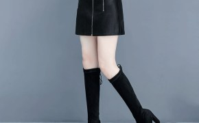 淘宝集运转运到英国时尚小皮裙女式秋冬款2019新款高腰ins超火的半身裙短裙子A字冬裙