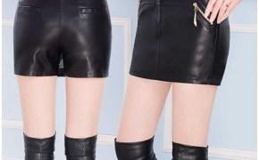 淘宝集运转运到英国包裙紧身包臀裙半身裙裤女士pu皮裙短裙子一步裙皮裙裤胖MM大码