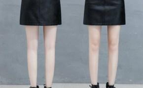淘宝集运转运到英国裙子秋冬季新款学生韩版仙女裙修身PU皮女士皮裙半身裙短款包臀。