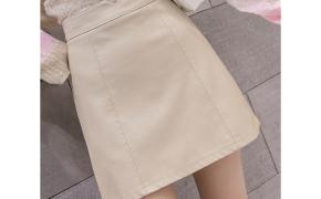 淘宝集运转运到意大利米色皮裙半身裙款秋季半身裙显瘦包臀裙高腰半裙黑色包裙短裙秋冬