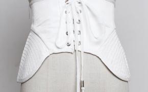 淘宝集运转运到美国欧美荷叶边裙摆超宽腰封装饰腰带女士韩版百搭束身裙子式绑带裙带