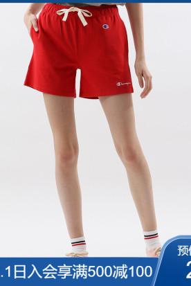 香港国内快递到Champion冠军女士小C LOGO 抽绳休闲短裤时效