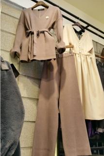 邮多多淘宝集运转运韩国代购东大门新款女装VANHANA GEM 女士少女时尚休闲裤套装均码