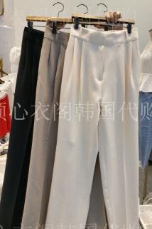 邮多多淘宝集运转运韩国东大门代购Manimo 女士简洁基本款休闲裤S/M码