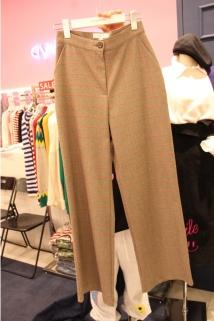 邮多多淘宝集运转运韩国代购东大门新款女装awesome-AP 女士束腰条纹休闲裤S/M码