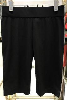 邮多多淘宝集运转运2019圣阿玛施塔夏正品女士骑行裤修身黑色五分休闲裤夏季短裤女