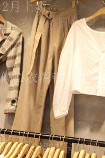 邮多多淘宝集运转运韩国东大门代购GOOMUNGGAGE 女士百搭插袋基本款休闲裤均码