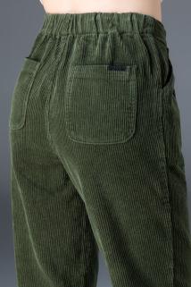 邮多多淘宝集运转运。灯芯绒裤子女秋冬2020新款宽松女士萝卜哈伦裤休闲条绒裤加绒女