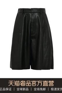 邮多多淘宝集运转运AKIRA NAKA20春夏黑色简约宽松舒适百搭女士阔腿裤休闲五分裤